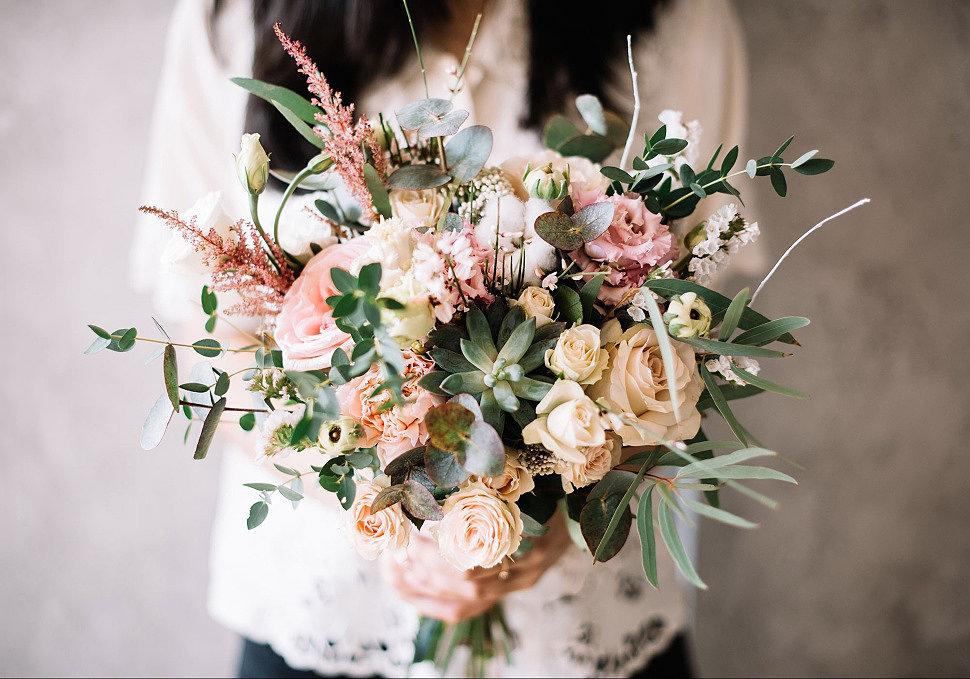 Букеты цветов в европейском стиле